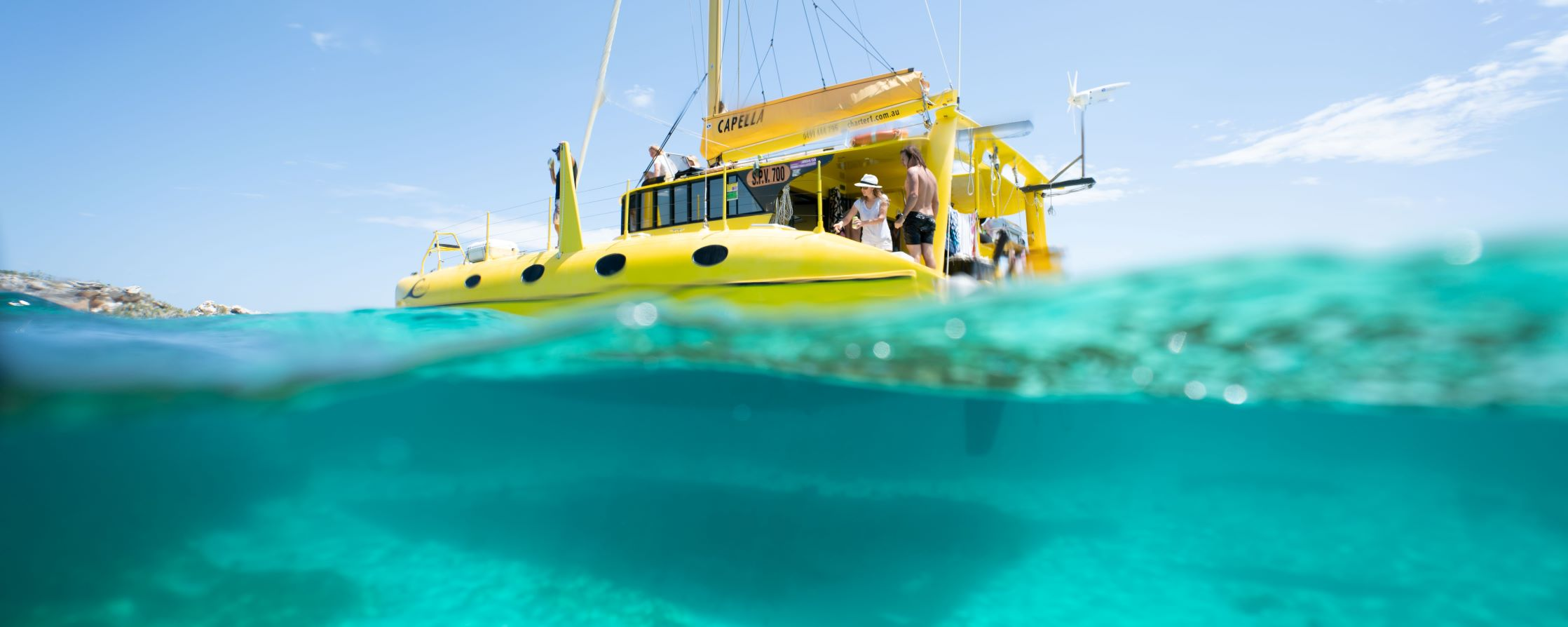 FULL DAY SAIL TO ROTTNEST Catamaran water