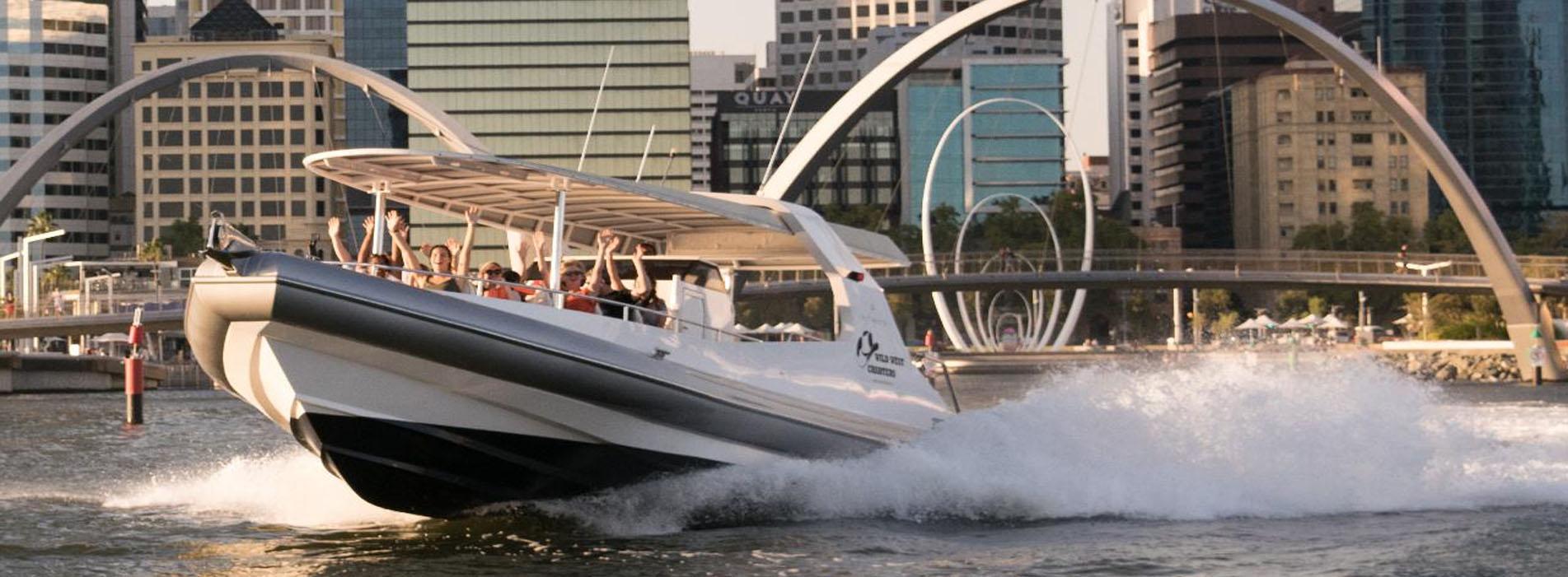INFINITY Perth Swan River boat tour Kings Park Heirisson Island