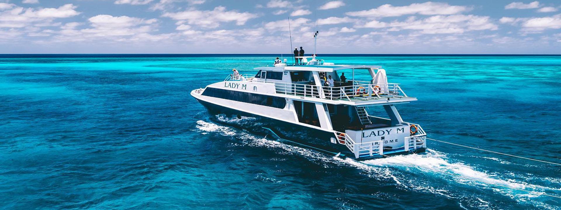 LADY M Rowley Shoals cruise blue lagoons