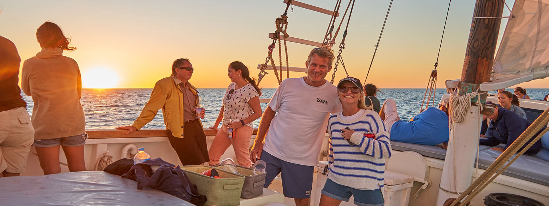 DUNSBOROUGH lugger cruises sunset ocean
