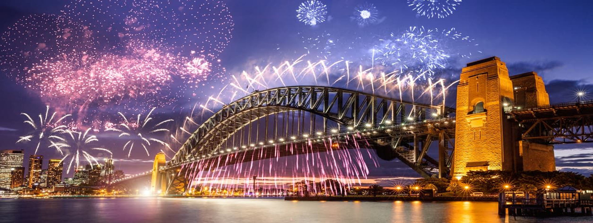 Sydney Bridge fireworks slider